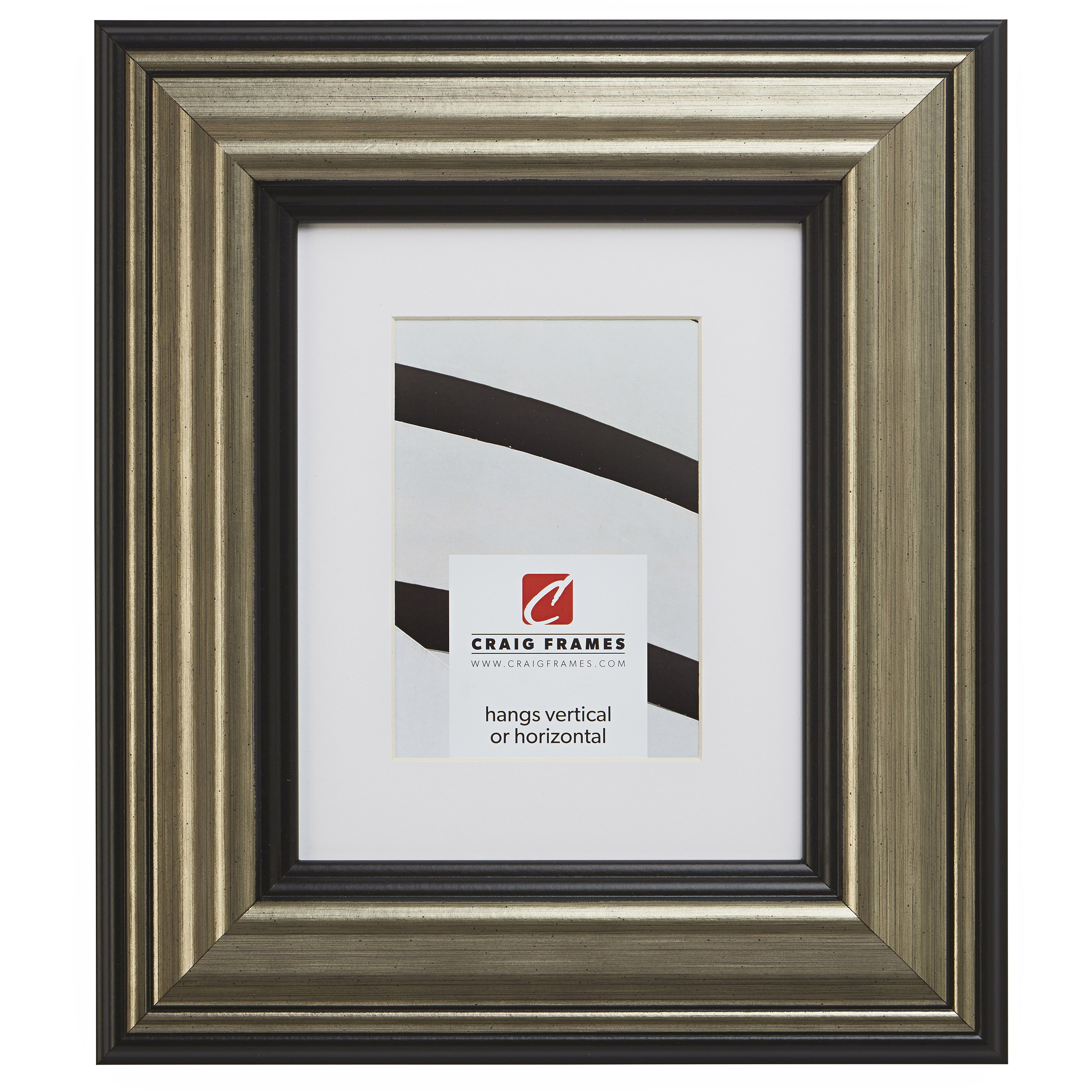 Contemporary Scratched Silver Picture Frame Custom Sizes Craig Frames Mossehaus